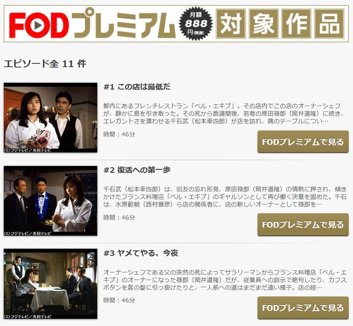 FODの王様のレストラン